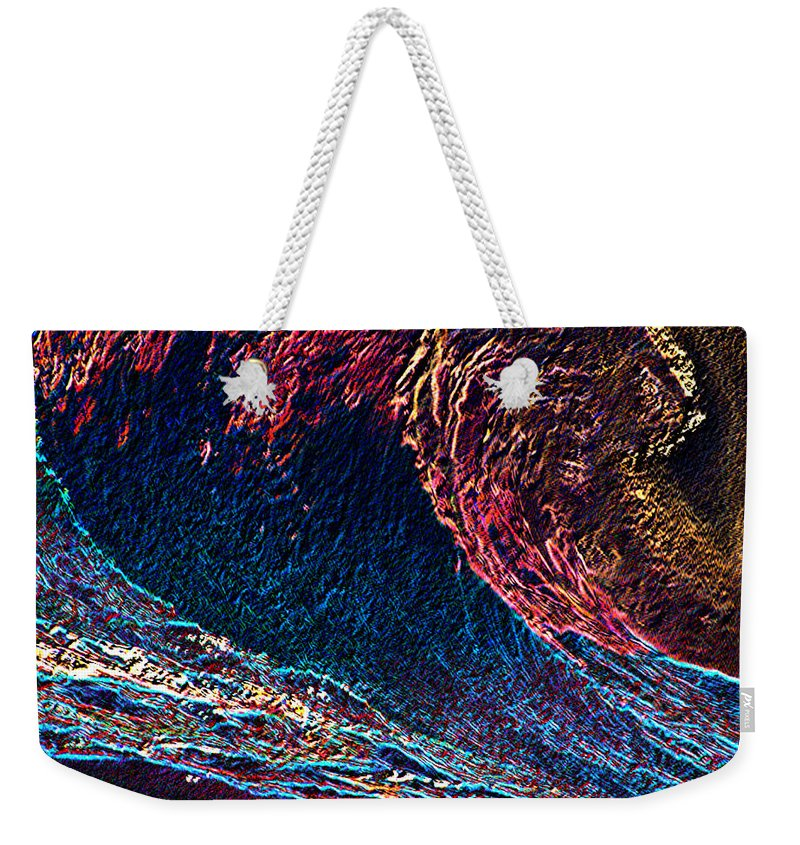Surfs Up Weekender Tote Bag featuring the photograph Surfs Up 4 by Tim Allen