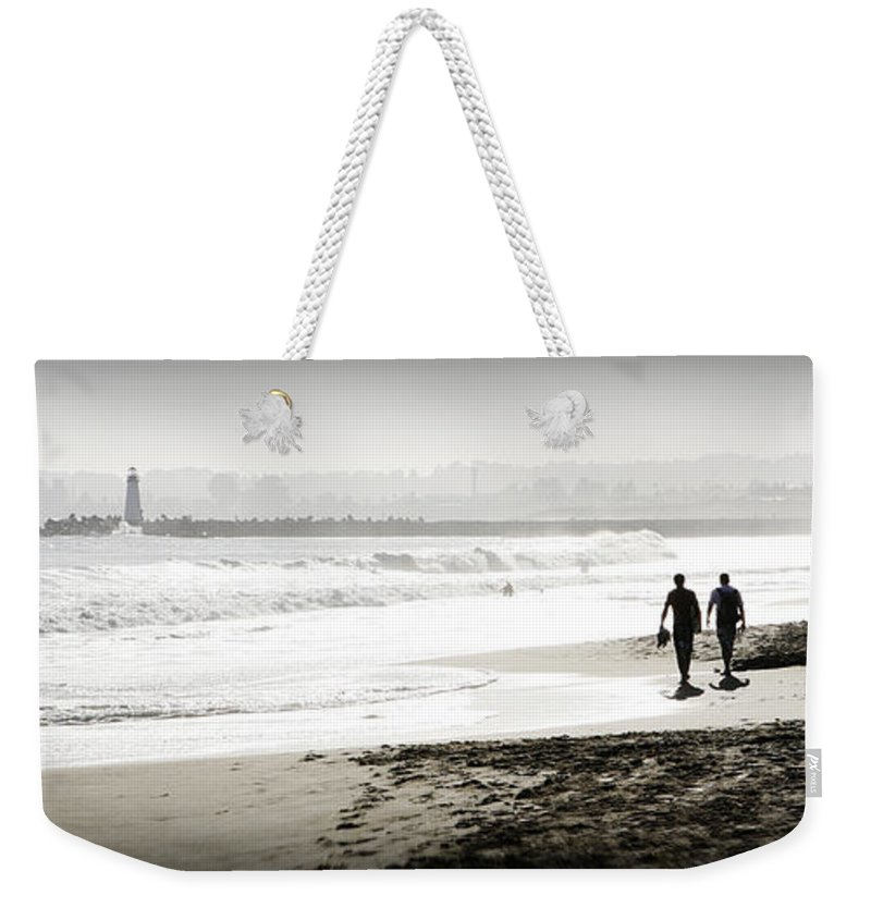 Men Weekender Tote Bag featuring the photograph Surreal Beach by Marilyn Hunt