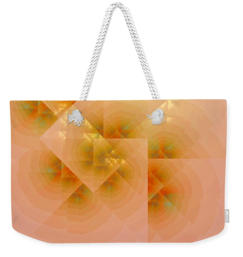 Fractal Weekender Tote Bag featuring the digital art Surreal Skylight by Richard Ortolano