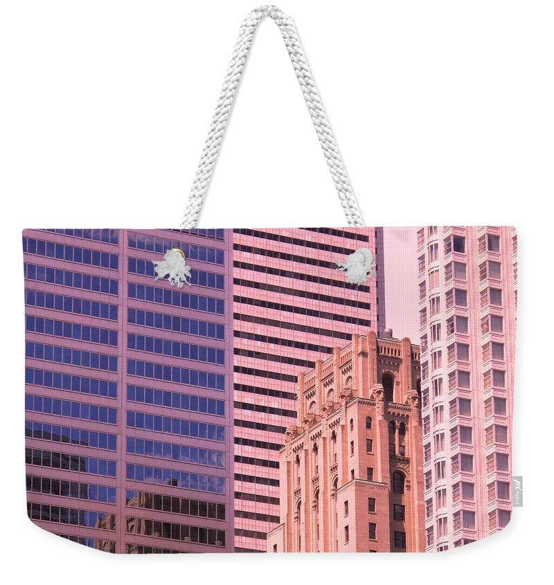 Office Buildings Weekender Tote Bag featuring the photograph Surrounded by Ian MacDonald