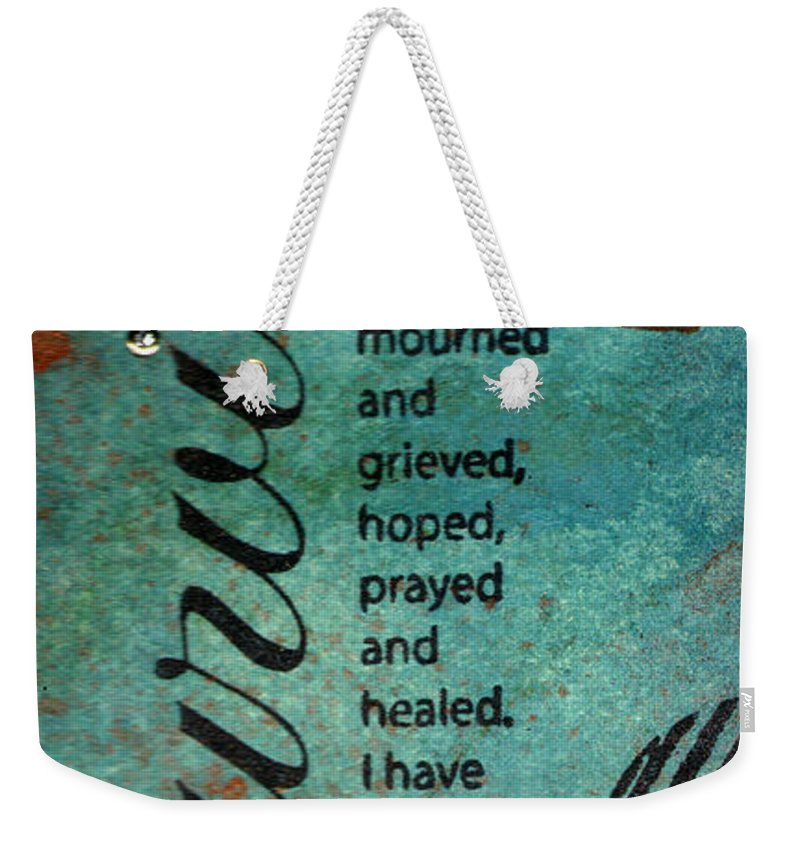 Women Weekender Tote Bag featuring the mixed media Survivor by Angela L Walker