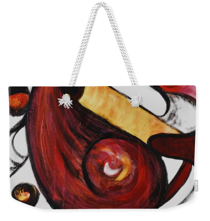 Survivor Weekender Tote Bag featuring the painting Survivor by Nadine Rippelmeyer