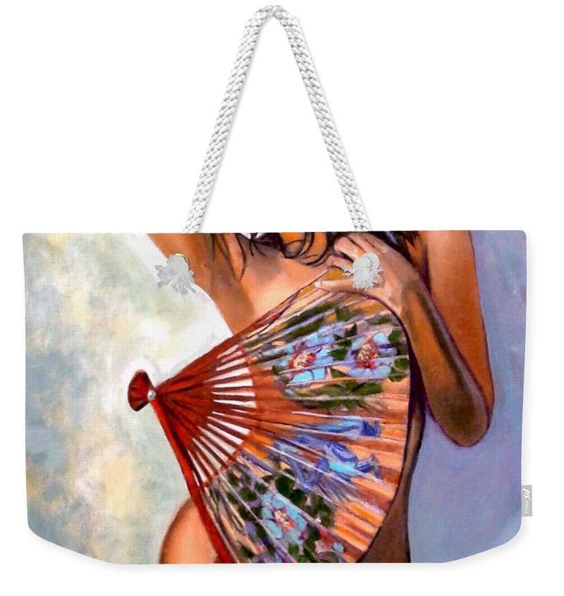 Women Weekender Tote Bag featuring the painting Susie by Jose Manuel Abraham
