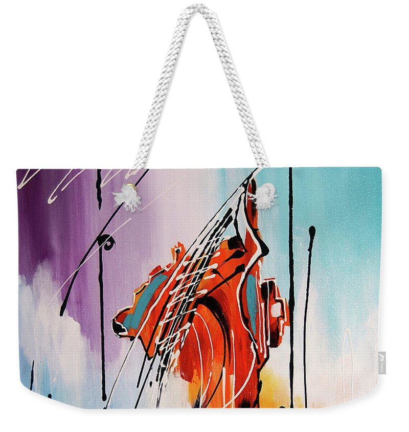Musical Instruments Weekender Tote Bag featuring the painting Suspended by Francisco Ventura Jr