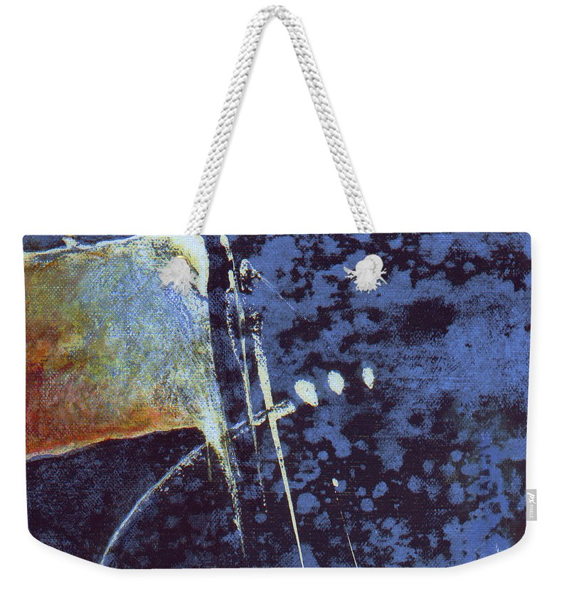 Painting Weekender Tote Bag featuring the painting Suspicion by Jean-luc Lacroix