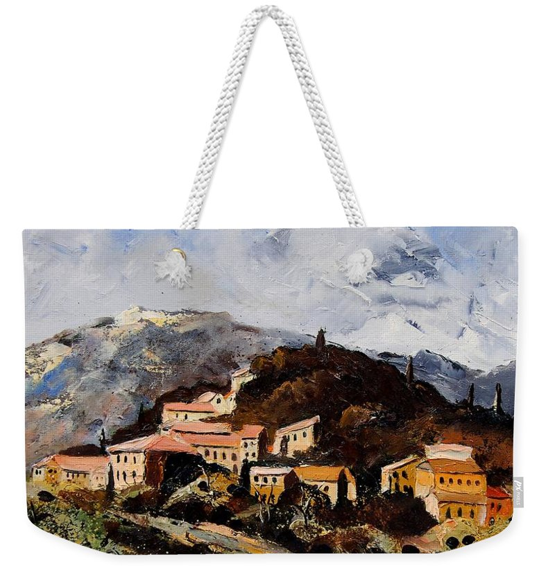 Tree Weekender Tote Bag featuring the painting Suzette Provence by Pol Ledent