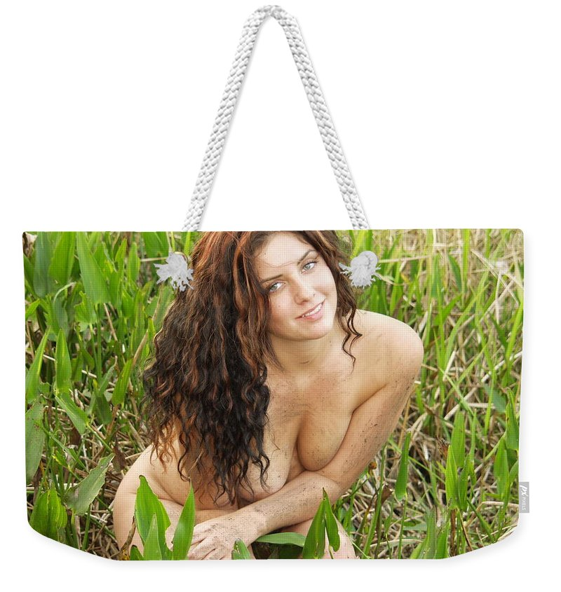 Lucky Cole Everglades Photographer Female Nude Everglades Weekender Tote Bag featuring the photograph Swamp Beauty Eight by Lucky Cole