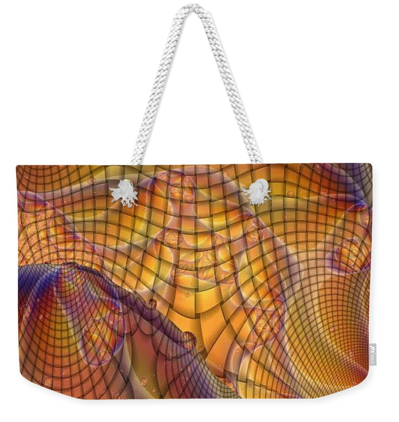 Swamp Gas Weekender Tote Bag featuring the digital art Swamp Gas Mesh by Ron Bissett
