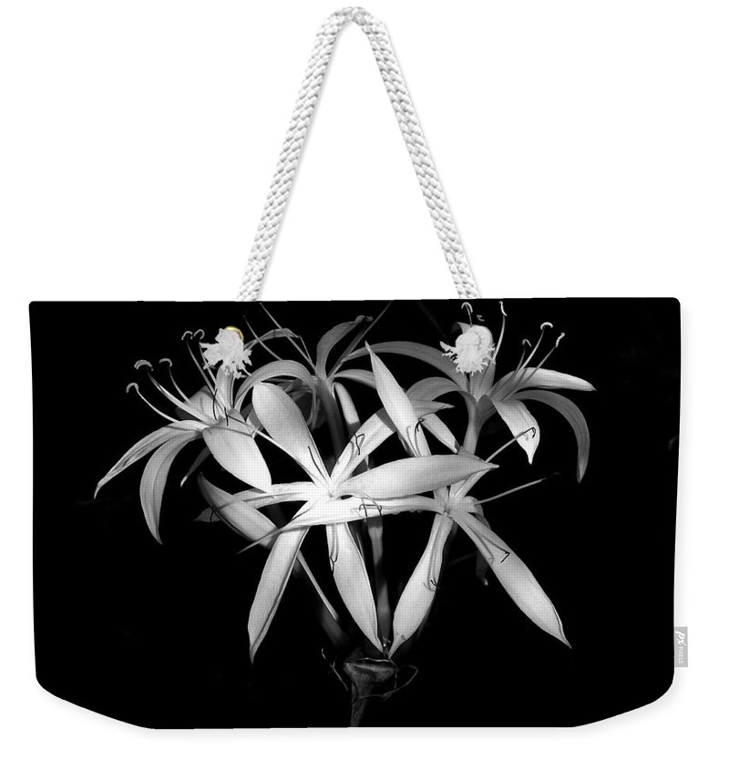 Nature Weekender Tote Bag featuring the photograph Swamp Lilies by Peg Urban