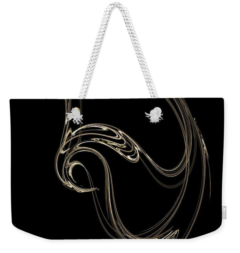 Fractals Weekender Tote Bag featuring the digital art Swan Dance by Richard Rizzo