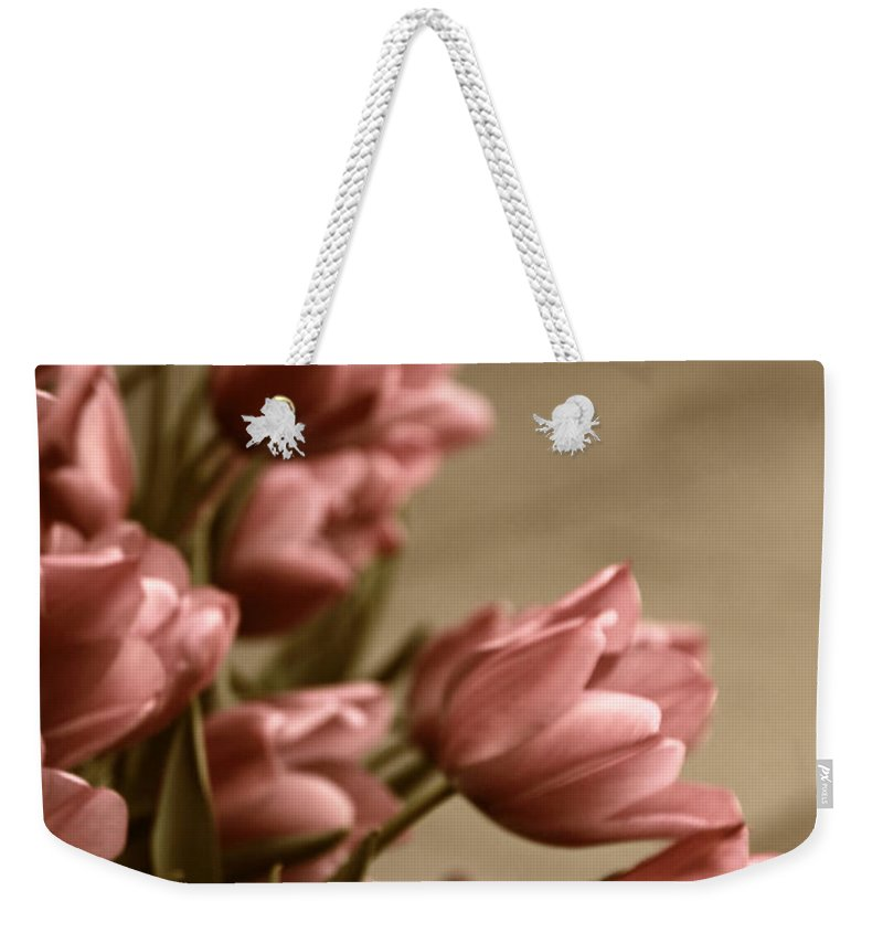 Flowers Weekender Tote Bag featuring the photograph Sway by Jessica Jenney