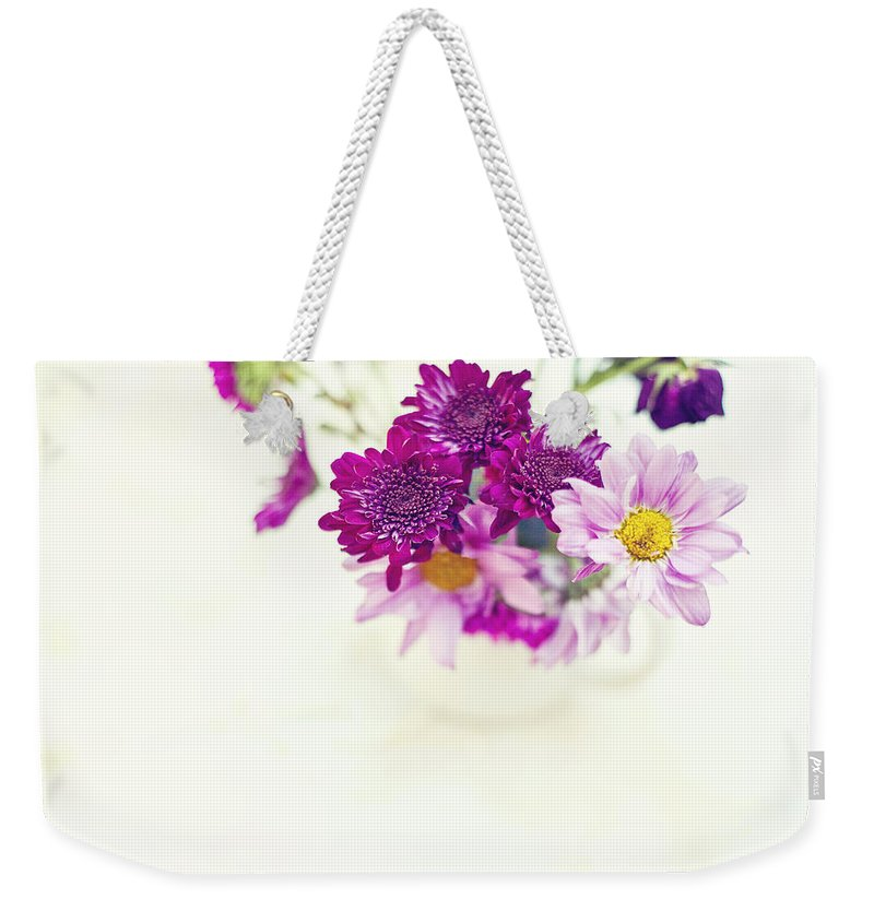 Flowers Weekender Tote Bag featuring the photograph Sweet Bouquet by Toni Hopper