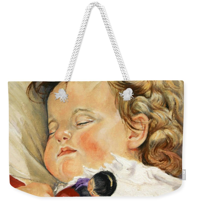 Children Portraits Weekender Tote Bag featuring the painting Sweet Dreams by Portraits By NC