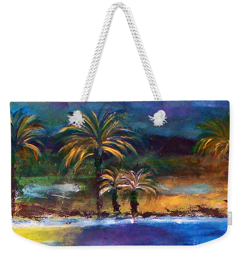 Acrylic Painting Weekender Tote Bag featuring the painting Sweet Escape by Yael VanGruber