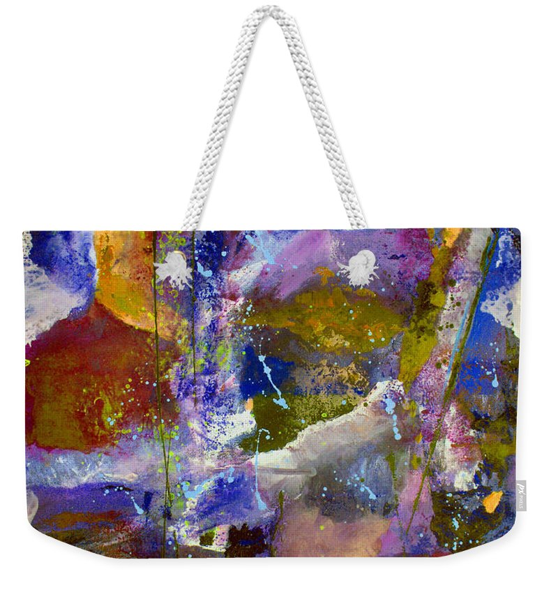 Abstract Weekender Tote Bag featuring the painting Sweet Inspiration by Ruth Palmer