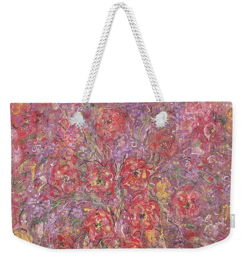 Still Life Weekender Tote Bag featuring the painting Sweet Memories by Natalie Holland