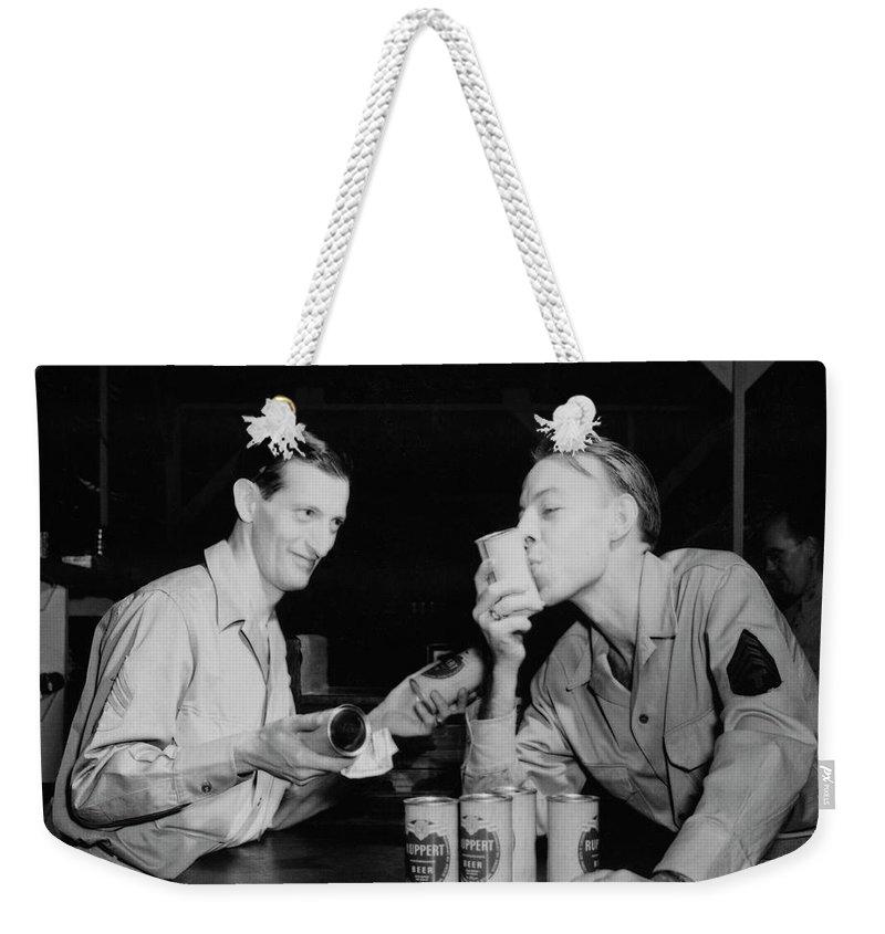 Beer Weekender Tote Bag featuring the photograph Sweet Overseas Beer Ration by Daniel Hagerman