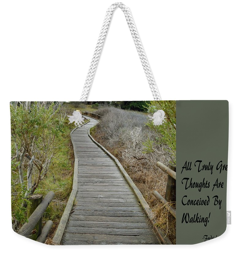 Sweet Springs Nature Preserve Text Weekender Tote Bag featuring the painting Sweet Springs Nature Preserve Text by Barbara Snyder
