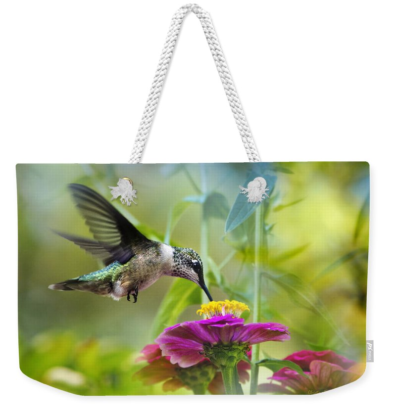 Hummingbird Weekender Tote Bag featuring the photograph Sweet Success by Christina Rollo