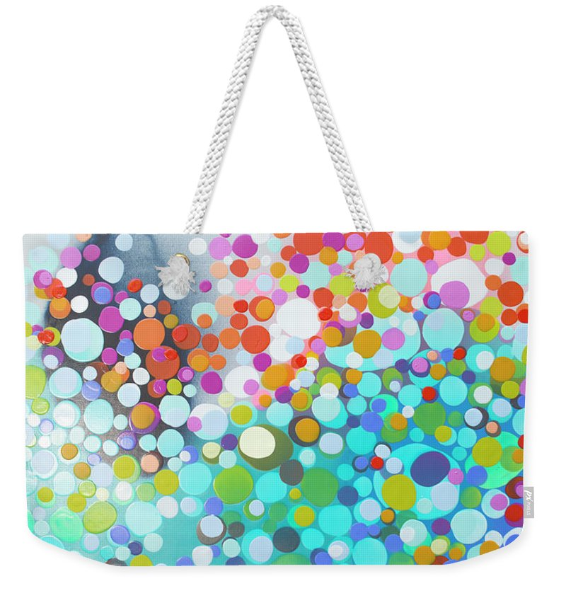 Abstract Weekender Tote Bag featuring the painting Sweet Thing by Claire Desjardins