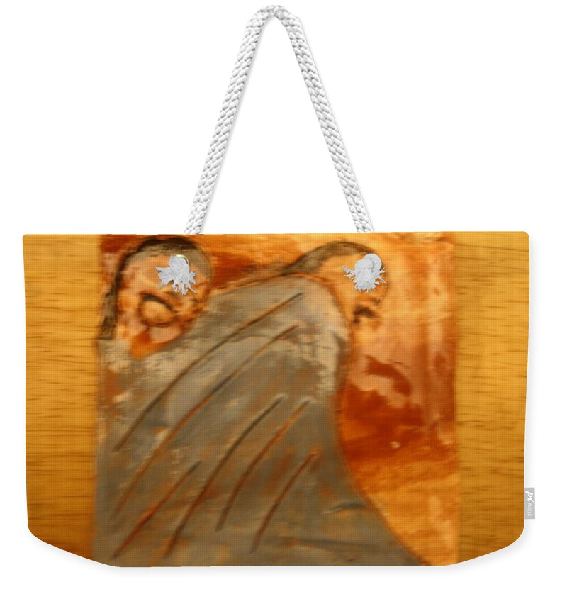 Jesus Weekender Tote Bag featuring the ceramic art Sweet Times - Tile by Gloria Ssali