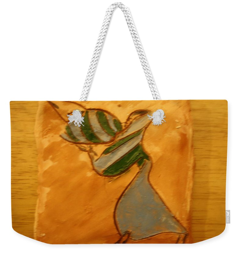 Jesus Weekender Tote Bag featuring the ceramic art Sweetheart - Tile by Gloria Ssali