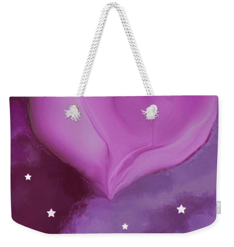 Hearts Weekender Tote Bag featuring the digital art Sweetheart by Linda Sannuti