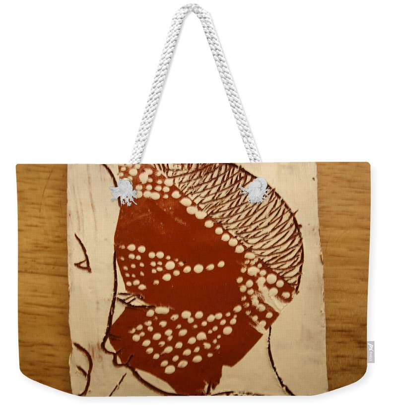Jesus Weekender Tote Bag featuring the ceramic art Sweethearts 1 - Tile by Gloria Ssali