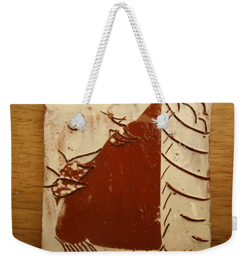 Jesus Weekender Tote Bag featuring the ceramic art Sweethearts 16 - Tile by Gloria Ssali