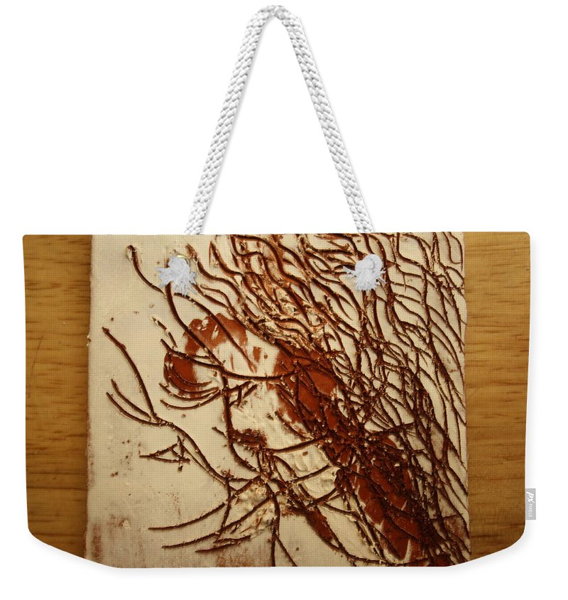 Jesus Weekender Tote Bag featuring the ceramic art Sweethearts 19 - Tile by Gloria Ssali