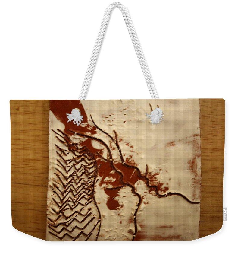 Jesus Weekender Tote Bag featuring the ceramic art Sweethearts 9 - Tile by Gloria Ssali