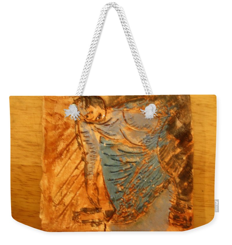 Jesus Weekender Tote Bag featuring the ceramic art Sweetly Done - Tile by Gloria Ssali