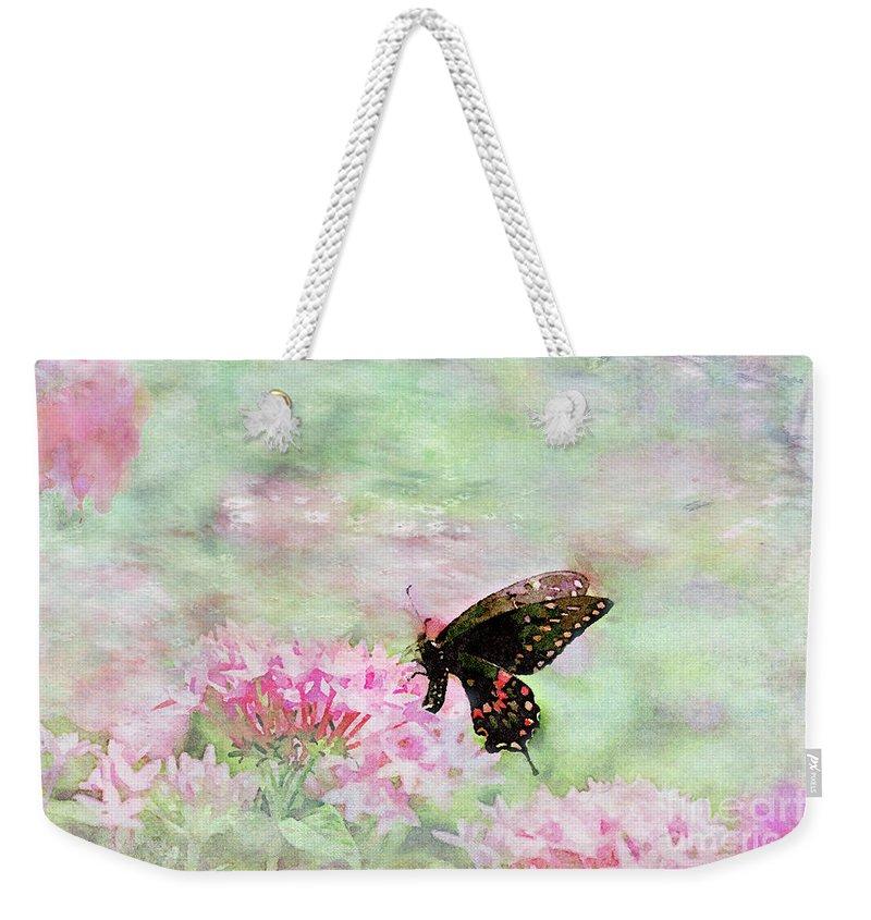 Starflower Digital Art Weekender Tote Bags