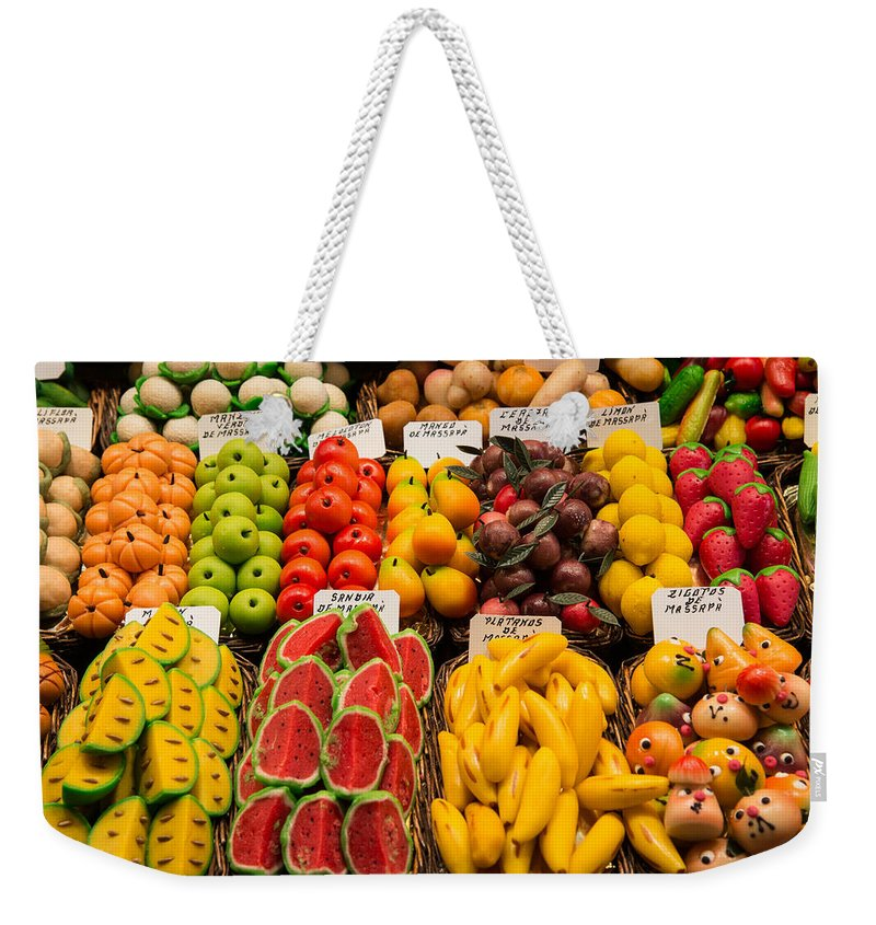 Barcelona Weekender Tote Bag featuring the photograph Sweets by Gary Lengyel