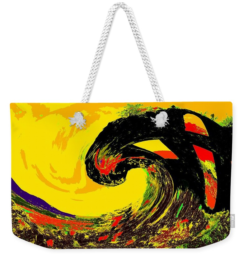 Abstract Weekender Tote Bag featuring the photograph Swept Away by Ian MacDonald