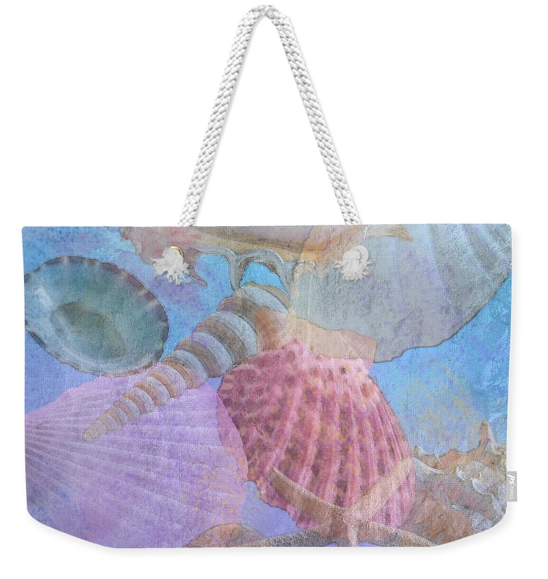 Shell Weekender Tote Bag featuring the photograph Swept Out With The Tide by Betty LaRue