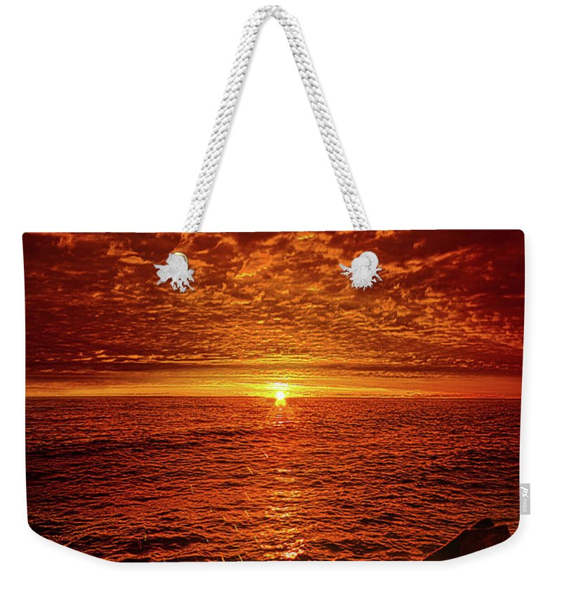 Clouds Weekender Tote Bag featuring the photograph Swiftly Flow The Days by Phil Koch