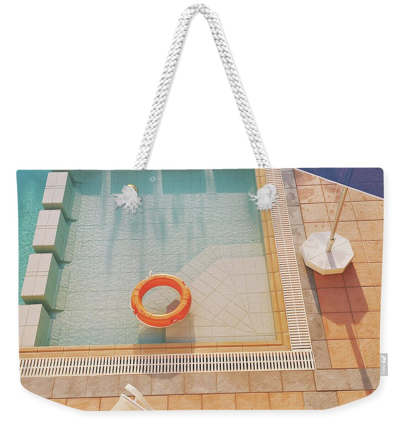 Water Weekender Tote Bag featuring the photograph Swimming Pool by Cassia Beck