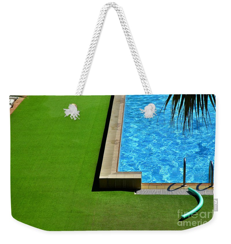 Swimming Pool Weekender Tote Bag featuring the photograph Swimming Pool by Silvia Ganora