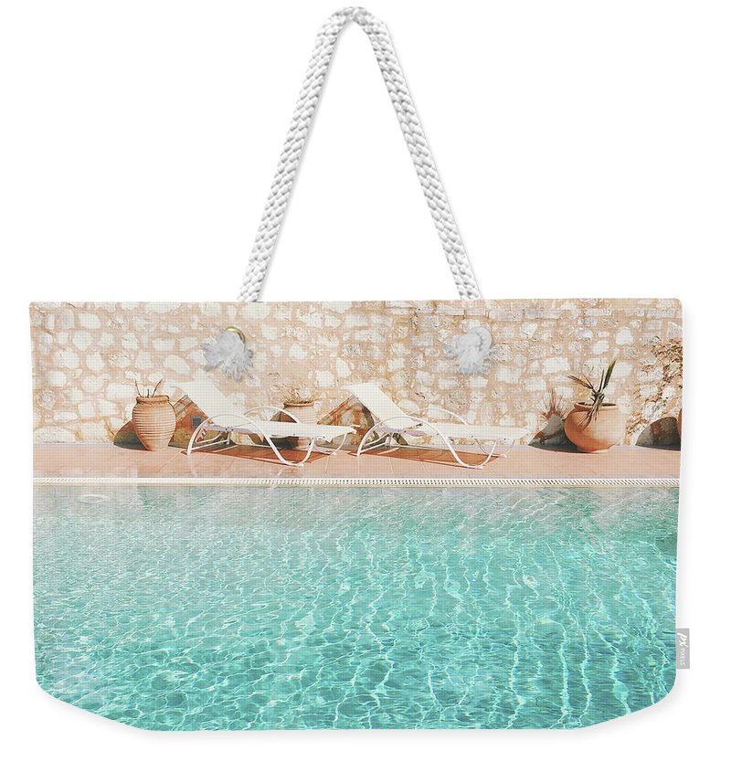 Water Weekender Tote Bag featuring the photograph Swimming Pool V by Cassia Beck