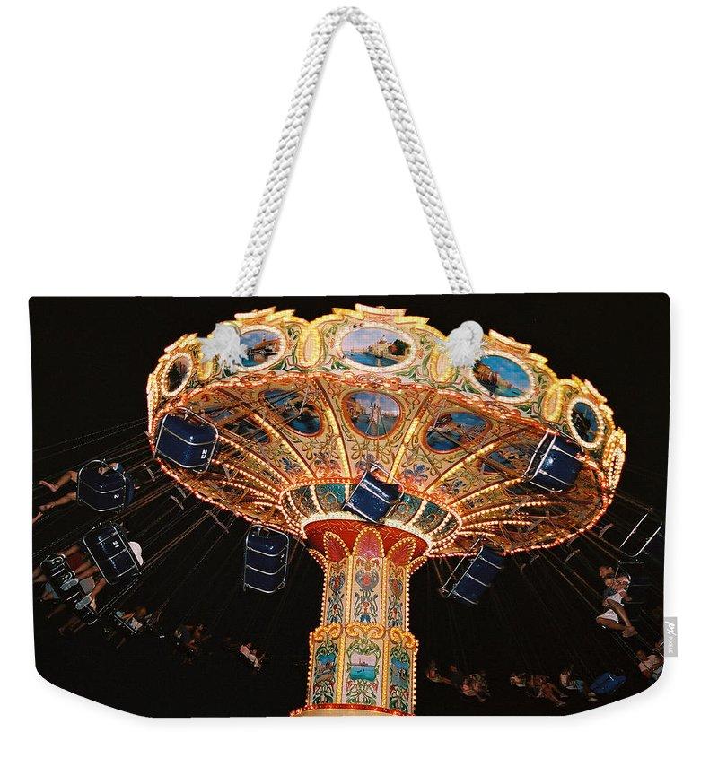 Boardwalk Weekender Tote Bag featuring the photograph Swing by Steve Karol