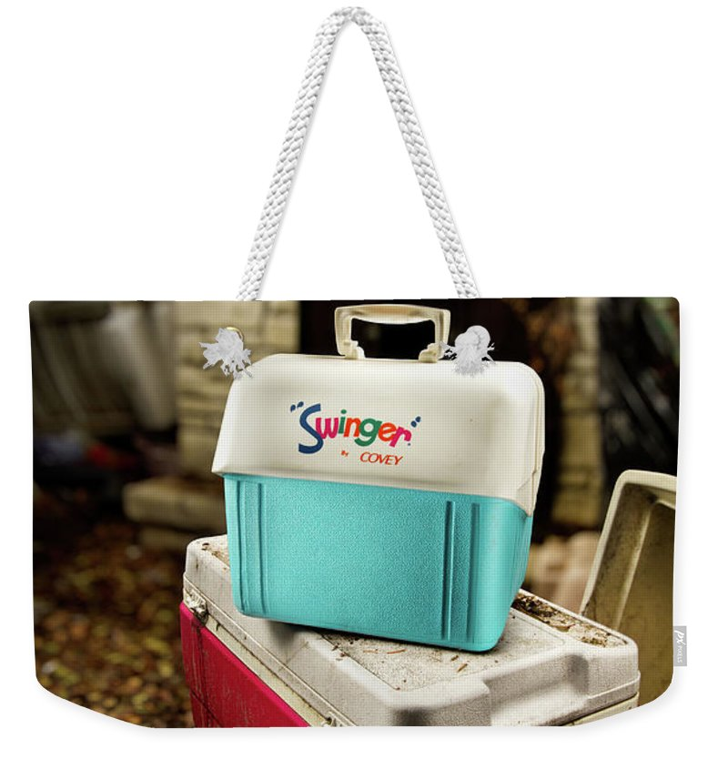 Painted Weekender Tote Bag featuring the photograph Swinger Cooler by Yo Pedro