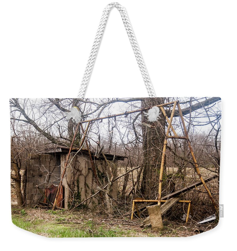 Weekender Tote Bag featuring the photograph Swingset by Melissa Newcomb