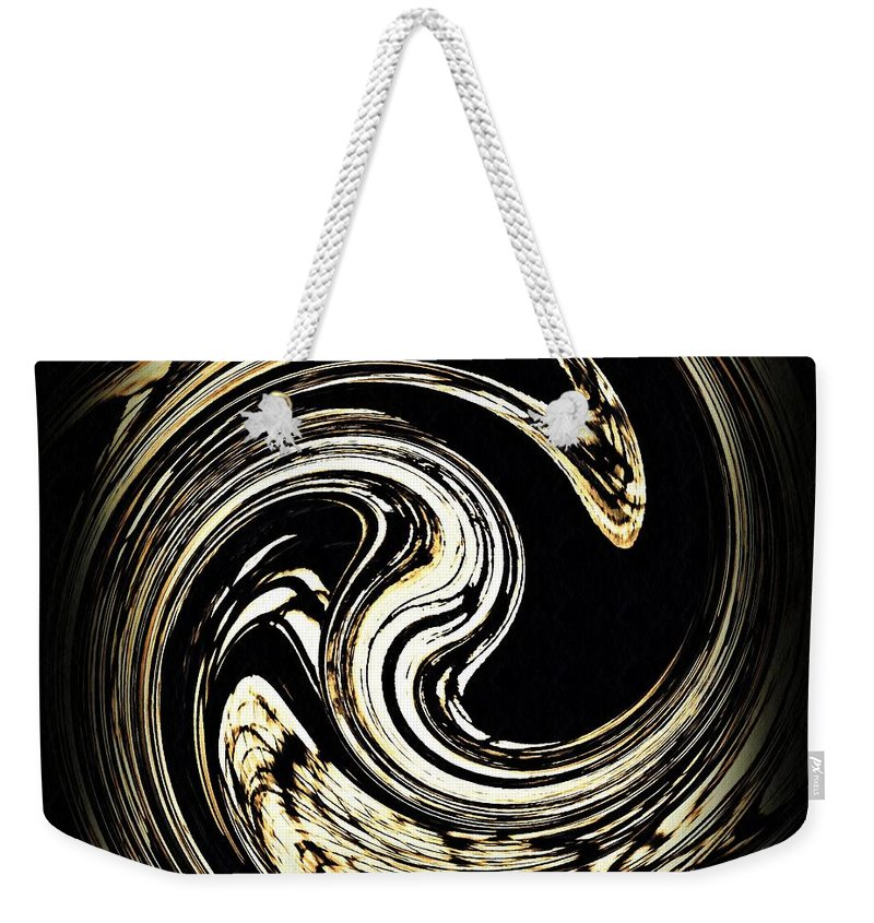 Swirl Weekender Tote Bag featuring the digital art Swirl Design 3 by Sarah Loft