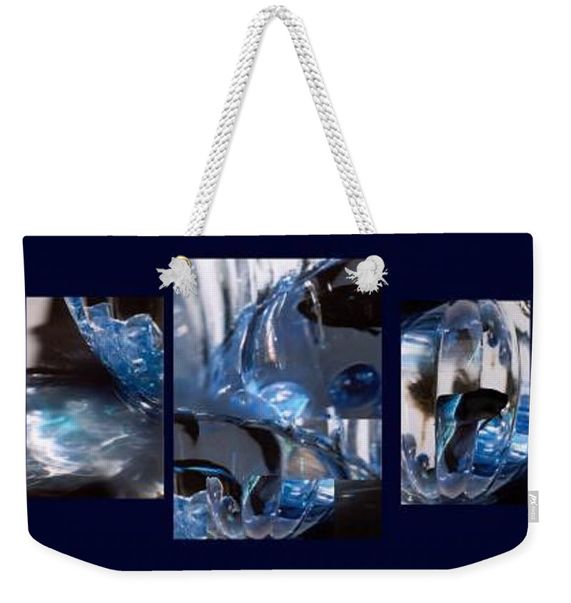 Abstract Of Betta In A Bowl Weekender Tote Bag featuring the photograph Swirl by Steve Karol