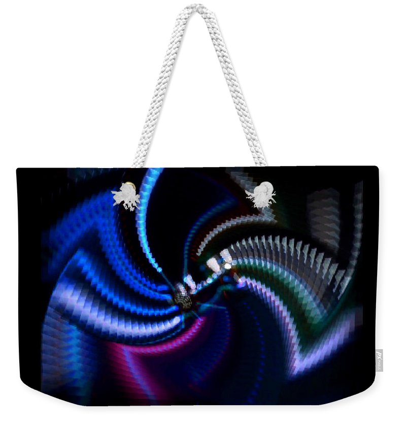 Chaos Weekender Tote Bag featuring the photograph Swirlerator by Charles Stuart