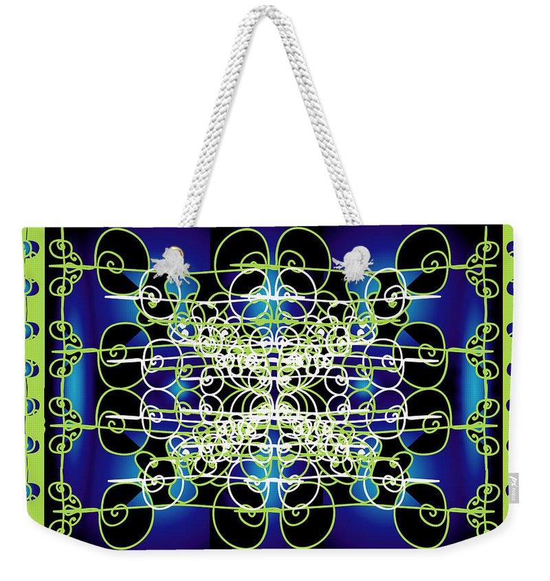 Abastract Weekender Tote Bag featuring the digital art Swirling 1 by George Pasini