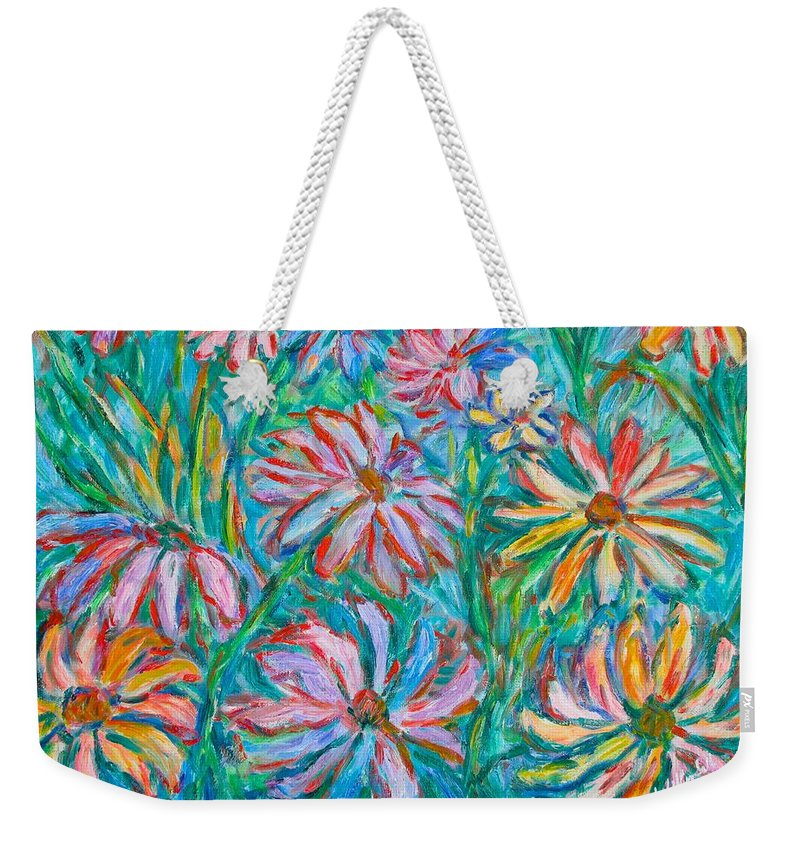 Impressionist Weekender Tote Bag featuring the painting Swirling Color by Kendall Kessler