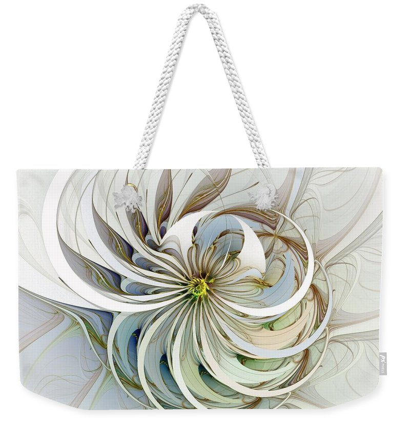 Digital Art Weekender Tote Bag featuring the digital art Swirling Petals by Amanda Moore
