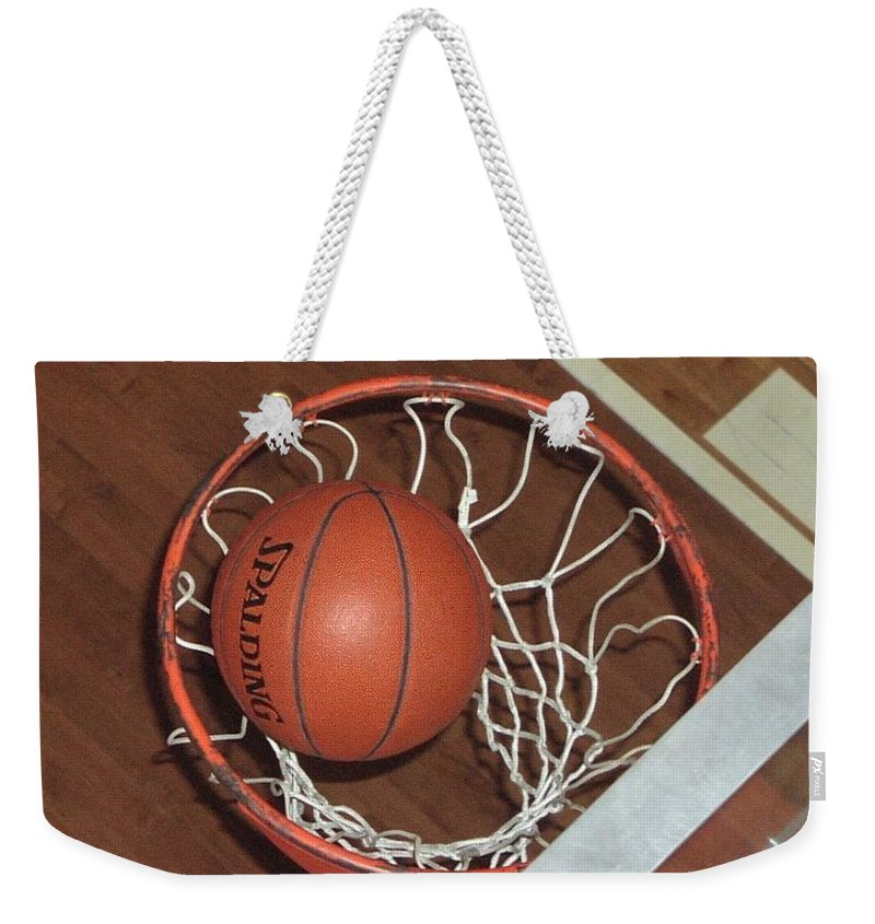 Sports Weekender Tote Bag featuring the photograph Swish by Mike Martin